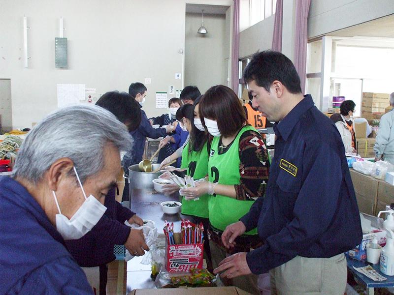 仮設住宅での支援活動